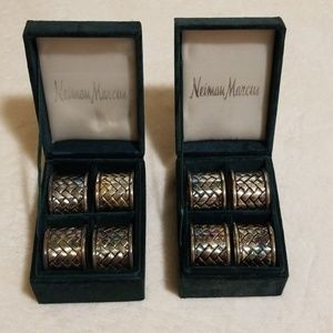 Neiman Marcus silver napkin rings